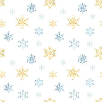 Padrão sem emenda de flocos de neve fundo infinito de natal fundo de neve repetida