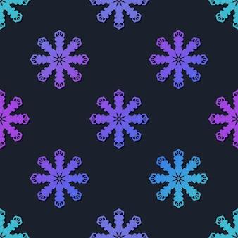 Padrão sem emenda de flocos de neve