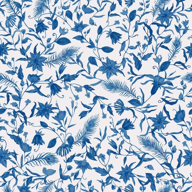 Padrão sem emenda de flor azul