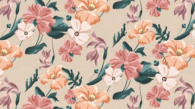 Padrão sem emenda de flor colorida florescendo