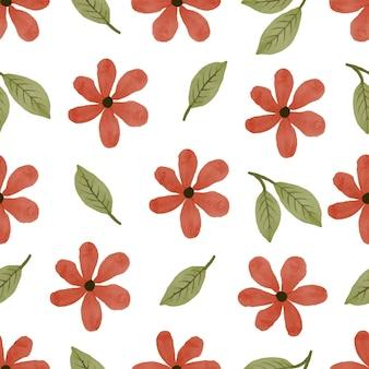 Padrão sem emenda de flor de laranjeira e folha verde para design de background