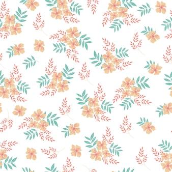 Padrão sem emenda de flor de laranjeira