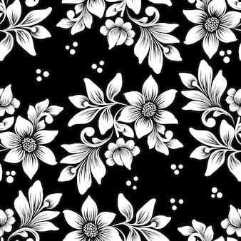 Padrão sem emenda de flor de vetor. ornamento floral à moda antiga de luxo clássico, textura perfeita para papéis de parede, têxteis, envolvimento.