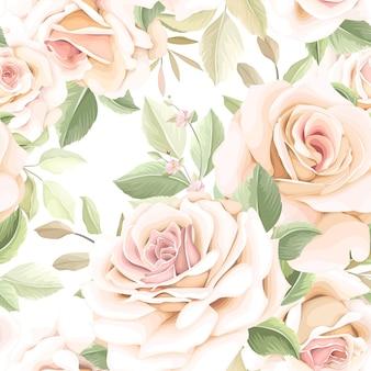 Padrão sem emenda de flor desenhada à mão
