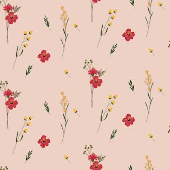 Padrão sem emenda de flor romântica