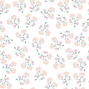 Padrão sem emenda de flor rosa doce