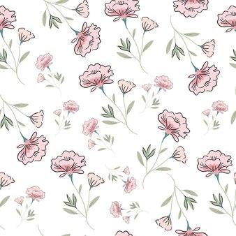 Padrão sem emenda de flor rosa