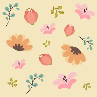 Padrão sem emenda de flores de primavera