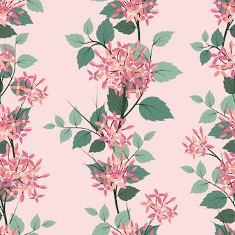 Padrão sem emenda de flores desabrochando no clima pastel