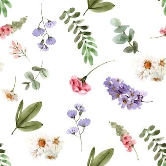 Padrão sem emenda de flores para plano de fundo e papel de parede premium