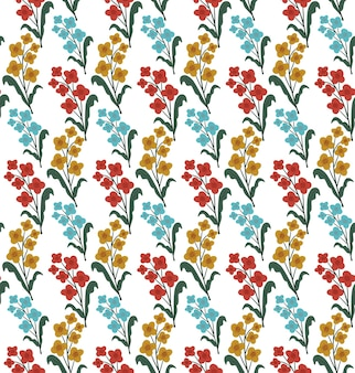 Padrão sem emenda de flores vintage, impressão na moda. textura de repetição floral, plano de fundo. ilustração vetorial