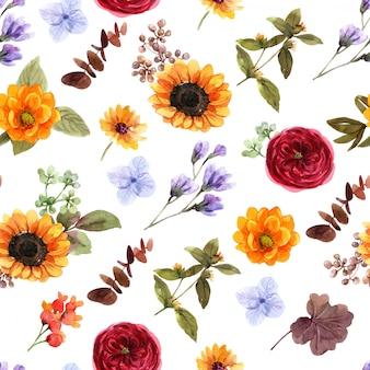 Padrão sem emenda de flores
