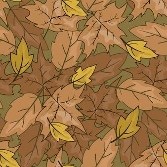 Padrão sem emenda de folha de outono