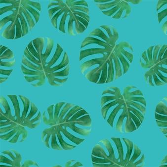 Padrão sem emenda de folha tropical