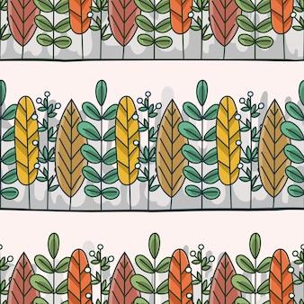 Padrão sem emenda de folhas coloridas abstratas