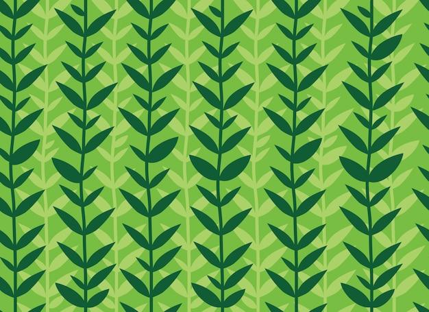 Padrão sem emenda de folhas verdes tropicais