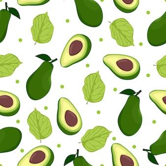 Padrão sem emenda de fruta abacate