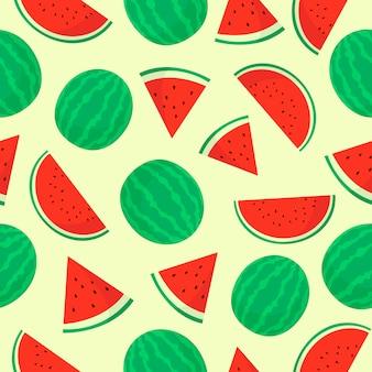 Padrão sem emenda de fruta melancia
