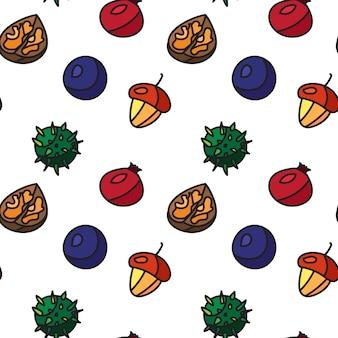 Padrão sem emenda de frutas