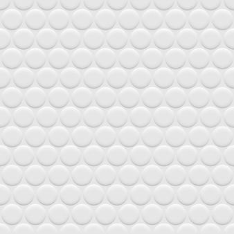 Padrão sem emenda de fundo branco 3d com círculos