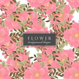 Padrão sem emenda de fundo floral rosa
