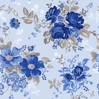 Padrão sem emenda de fundo floral vintage