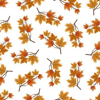 Padrão sem emenda de galho de outono para design de plano de fundo