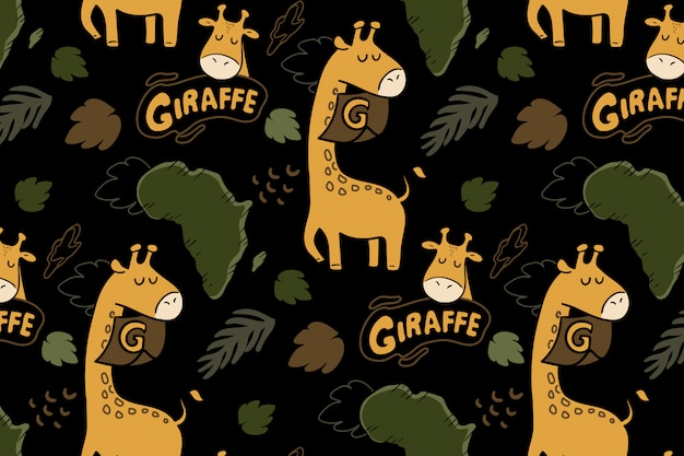Padrão sem emenda de girafa