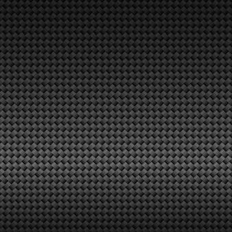 Padrão sem emenda de grade de fibra de carbono preto escuro moderno