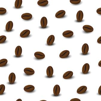 Padrão sem emenda de grãos de café para invólucro.
