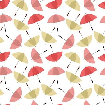 Padrão sem emenda de guarda-chuvas coloridos