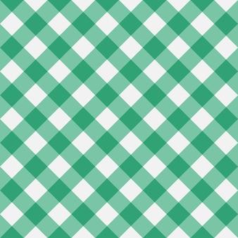 Padrão sem emenda de guingão verde listras diagonais textura de losango para toalhas de mesa xadrez