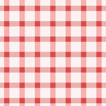 Padrão sem emenda de guingão vermelho e branco