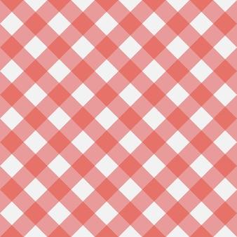 Padrão sem emenda de guingão vermelho textura de quadrados de losango para toalhas de mesa xadrez roupas camisa