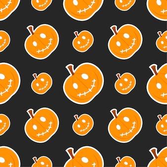 Padrão sem emenda de halloween abóbora