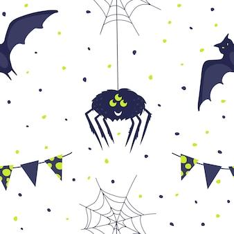 Padrão sem emenda de halloween. ilustração vetorial