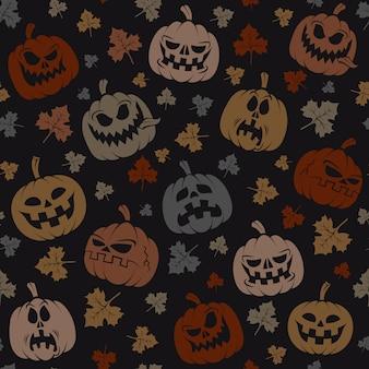Padrão sem emenda de halloween
