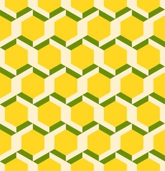 Padrão sem emenda de hexágono abstrato de linhas geométricas em 3d