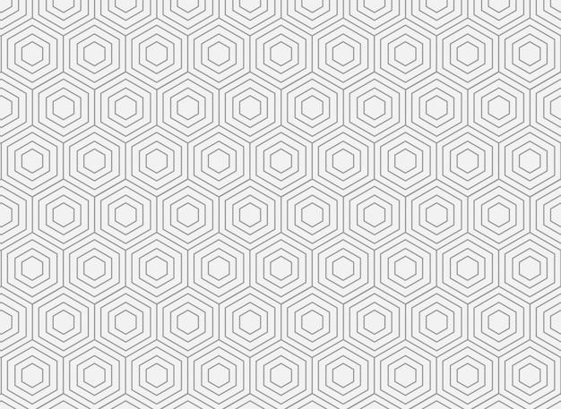 Padrão sem emenda de hexágono geométrico