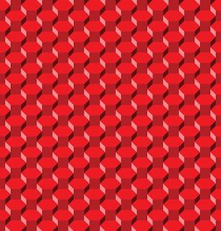 Padrão sem emenda de hexágono vermelho abstrato