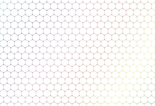 Padrão sem emenda de hexágonos coloridos abstrata