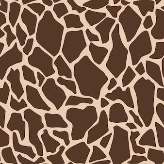 Padrão sem emenda de impressão de girafa de vetor ilustração de cor da moda para papel de parede tecido