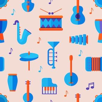 Padrão sem emenda de instrumento musical