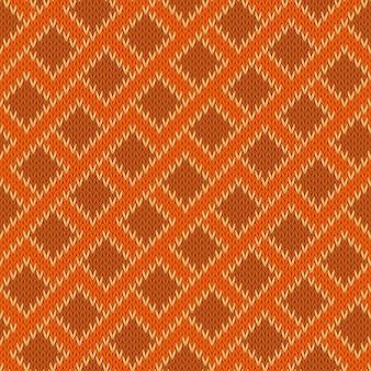 Padrão sem emenda de lã tricotada em ziguezague