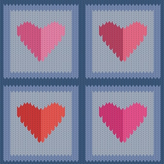 Padrão sem emenda de lã tricotada