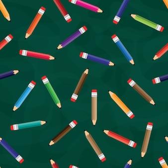 Padrão sem emenda de lápis