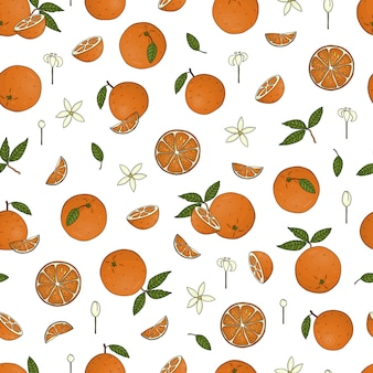 Padrão sem emenda de laranjas