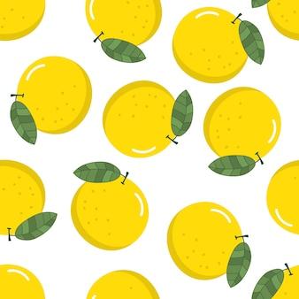 Padrão sem emenda de limão orgânico fresco