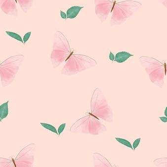 Padrão sem emenda de linda borboleta