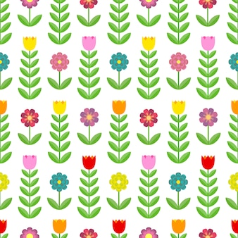 Padrão sem emenda de lindas tulipas